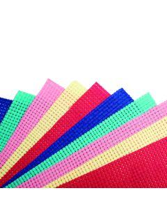 Binca Cross Stitch Sheets Assorted Colours