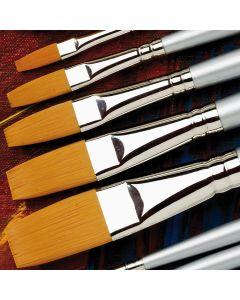 Specialist Crafts Premium Long Handled Synthetic Flat Brushes