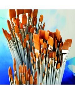 Student Filbert Synthetic Watercolour Brush Bulk Pack
