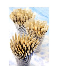 Student Short Handled Round Hog Brush Bulk Pack. Pack of 90