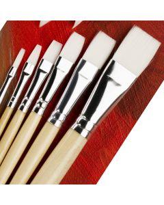 Essentials Long Handled Flat Synthetic Bulk Pack