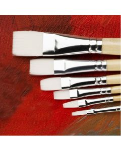 Specialist Crafts Essentials Short Handled Synthetic Flat Brushes