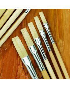 Specialist Crafts Essentials Long Handled Hog Flat Brushes