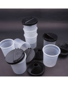 Non-Spill Pots with Flip-Top Lids Pack