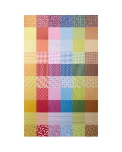Patterned Colour Themed Card Packs - Assorted. Pack of 50