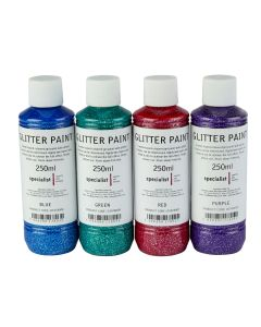 Specialist Crafts Glitter Paint - Assorted Colours Set