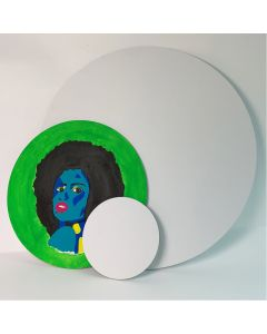 Round White Canvas board
