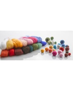 Felting Wool Taster Pack. Each