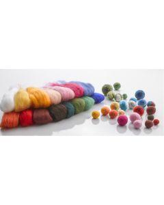 Felting Wool Taster Pack. Each