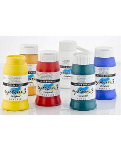 System 3 Original Acrylic Colours 500ml Set 3