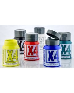 X4 Standard Acryl 500ml Assorted Set 1 - Set of 6