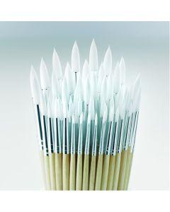 Essential Short Handled Round Synthetic Brush Bulk Pack