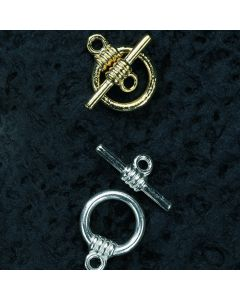 Toggle Clasps. Silver Plated. Pack of 10