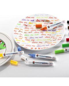 Marabu Porcelain Painter Marker Brights Assortment. Pack of 10
