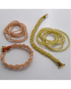 Knitted Enamelled Rope. Per metre.