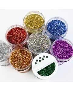 Glitter Shaker Assortment. Pack of 8