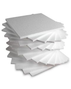 Polystyrene Tiles - 300 x 300 x 10mm. Pack of 20