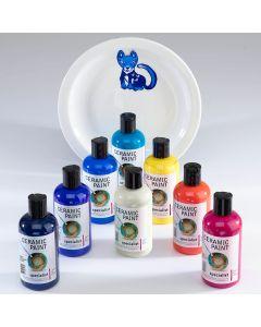 Specialist Crafts Ceramic Paints Set. Set of 8