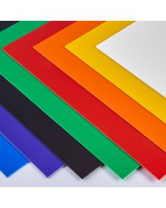 Coloured High Impact Polystyrene Sheets - 457 x 254mm