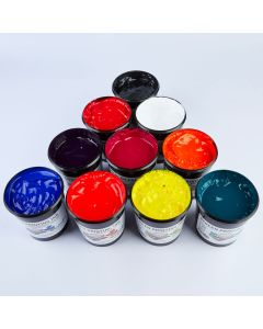Specialist Crafts Water-Based Textile Ink 1kg. Set of 10