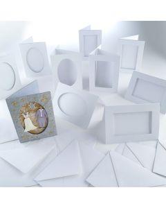 Window Greetings Card Blanks. Pack of 50