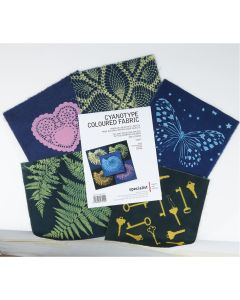 Specialist Crafts Cyanotype Coloured Fabric pack. Each