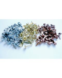 Mini Metallic Paper Fasteners. Pack of 200